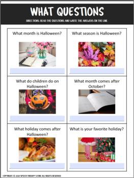 Speech Therapy Halloween Bundle: Language, Articulation, & Social Pragmatics