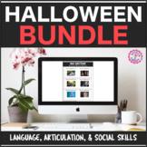 Speech Therapy Halloween Bundle: Language, Articulation, &