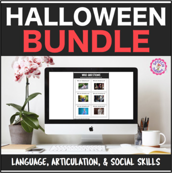 Speech Therapy Halloween Bundle: Language, Articulation, &