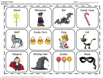 Speech Therapy Halloween Language Bundle
