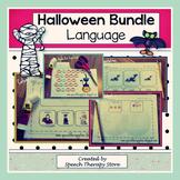 Speech Therapy Halloween Language