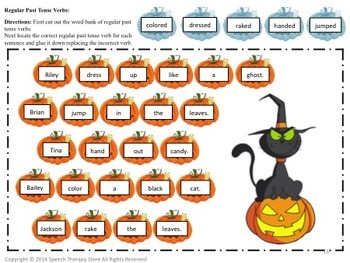 Speech Therapy Halloween Language