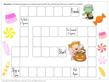 Speech Therapy Halloween Reinforcement Games