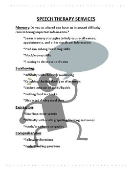 Speech Therapy Handout