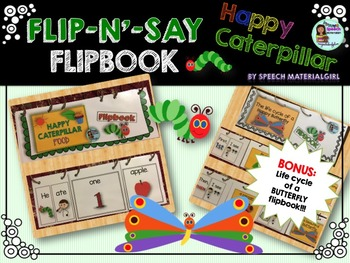 Speech Therapy Happy Caterpillar Butterfly Life Cycle Flip book Autism
