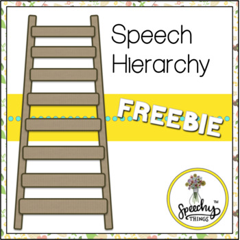 Speech Therapy Hierarchy Freebie
