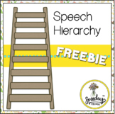 Speech Therapy Hierarchy Freebie