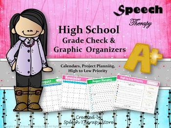 Speech Therapy High School Grade Check & Organization System