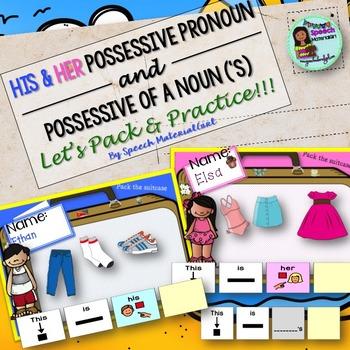 Speech Therapy His Her Possessive of noun Possessive 's Activity Bundle