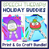 Speech Therapy Holiday Craft Bundle