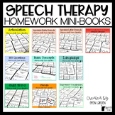 Speech Therapy Homework Mini-Books BUNDLE