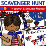 Speech Therapy Scavenger Hunt for The Fourth of July | Ind