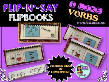 Speech Therapy I like verbs Flipbook booklet Autism expres