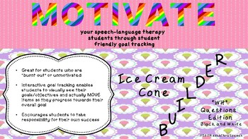 """Goal Tracking to Motivate Your Speech Therapy Students - """"Wh"""" Questions"""