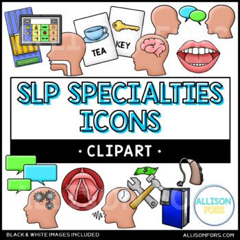 Speech Therapy Icons Clip Art