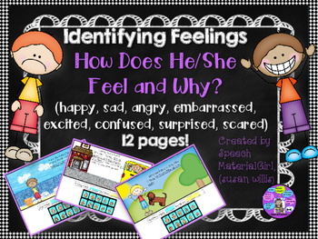 Speech Therapy Identify Feelings Emotions How does he/she feel & Why Autism