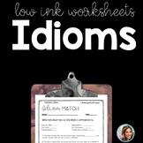 IDIOMS   IDIOM WORKSHEETS   Figurative Language Worksheets