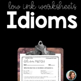 IDIOMS | IDIOM WORKSHEETS | Figurative Language Worksheets