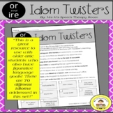 Speech Therapy Idioms Figurative Language with Articulatio