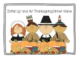 Speech Therapy: Initial /g/ and /k/ words Thanksgiving Din