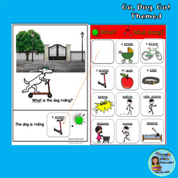 GO DOG GO Interactive Booklet Wh Question BUNDLE who what where SPED SPEECH TX