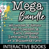 Speech Therapy Interactive Books BUNDLE (Basic Concepts and Early Language)