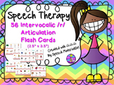 "Speech Therapy Intervocalic /r/ 56 Articulation Color Flash Cards 2.5"" x 3.5"""