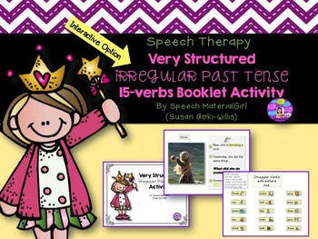 Speech Therapy Irregular Past Tense Structured & Easy Interactive Booklet