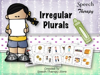 Speech Therapy Irregular Plurals Bundle