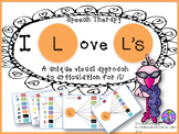 Speech Therapy /L/ Articulation Activity Graphic Organizer Visual Autism