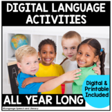 Speech Therapy LANGUAGE BUNDLE   Print or Digital with TPT