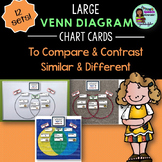 Speech Therapy LARGE Venn Diagram Cards Compare Contrast Similar Same Different