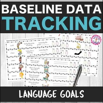 Speech Therapy Language Baseline Data