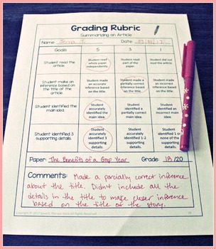 Speech Therapy Language Goals Secondary Grades: 5 Differentiated Lesson Plans
