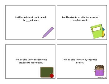 Speech Therapy Learning Targets for Students - Speech Goals for Students