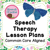 Speech Therapy Lesson Plan Common Core Standards Aligned