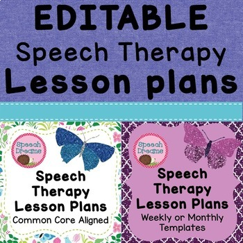Speech Therapy Lesson Plan Template Teaching Resources Teachers