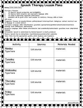 EDITABLE Speech Therapy Lesson Plans Bundle {Common Core Standards}