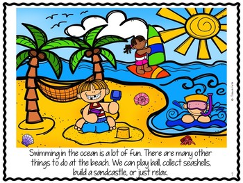 "Language and Speech Pack: ""Let's Go to the Beach!"""