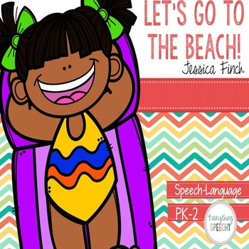 """Language and Speech Pack: """"Let's Go to the Beach!"""""""