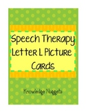 Speech Therapy Letter L Picture Cards