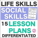 Speech Therapy Life Skill Social Skills: 15 Differentiated Lesson Plans