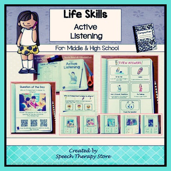 Speech Therapy Life Skills Active Listening: Differentiated Lesson Plans