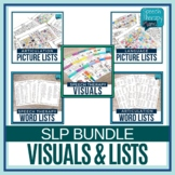 Speech Therapy Lists & Visuals Ultimate Bundle