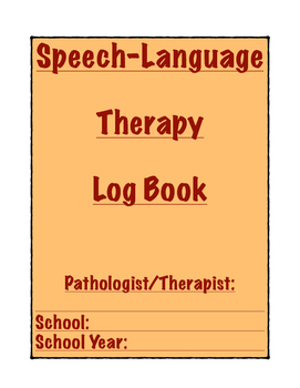 Speech Therapy Log Book