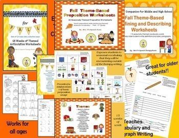 Fall Speech Therapy MEGA Bundle