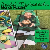 Speech Therapy March St. Patrick's Day Games and Puzzles