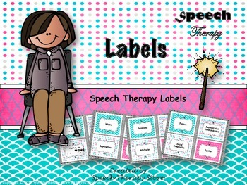 Speech Therapy Material Organization Labels