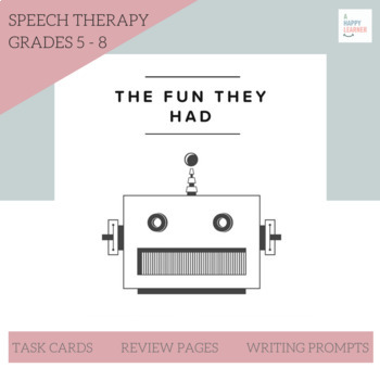 Speech Therapy Middle School Short Stories