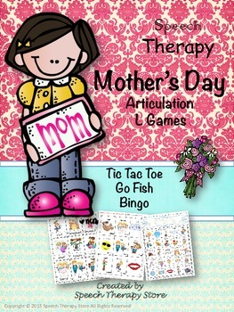 Speech Therapy Mother's Day Articulation L Games